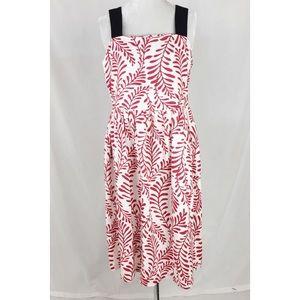 Who What Wear Leaf Print dress Small